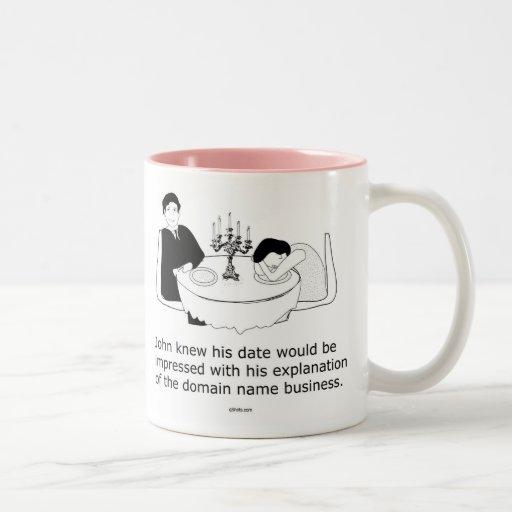 John and Date (domain name theme) Two-Tone Coffee Mug