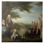 John and Elizabeth Jeffreys and their Children, 17 Large Square Tile