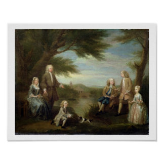 John and Elizabeth Jeffreys and their Children, 17 Poster