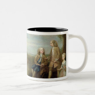 John and Elizabeth Jeffreys and their Children, 17 Two-Tone Coffee Mug