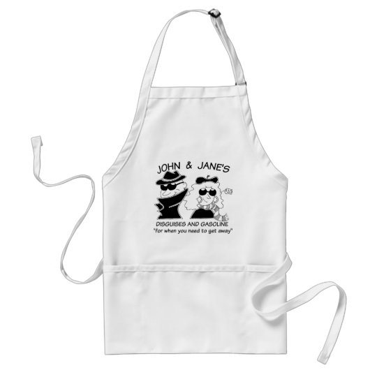 John and Janes Disguises and Gasoline Adult Apron