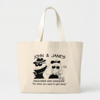 John and Janes Disguises and Gasoline Tote Bag
