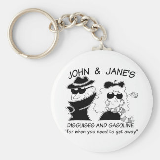 John and Janes Disguises and Gasoline Keychain