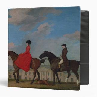 John and Sophia Musters riding at Colwick Hall Vinyl Binders
