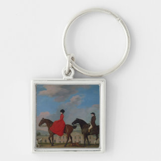 John and Sophia Musters riding at Colwick Hall Keychain