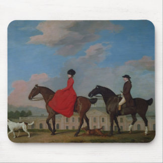 John and Sophia Musters riding at Colwick Hall Mousepad