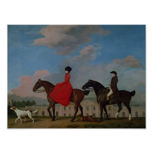 John and Sophia Musters riding at Colwick Hall Poster