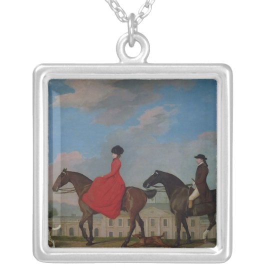 John and Sophia Musters riding at Colwick Hall Silver Plated Necklace