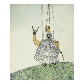 John and the Ghosts by Kay Nielsen Poster