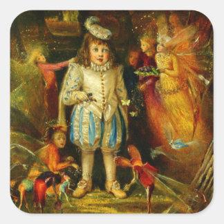 John Anster Fitzgerald: Fairyland Square Sticker