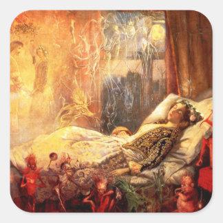 John Anster Fitzgerald: The Stuff That Dreams ... Square Sticker