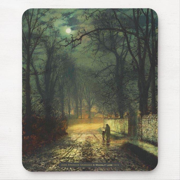 John Atkinson Grimshaw A moonlit lane 1874 CC0230 Mouse Pad