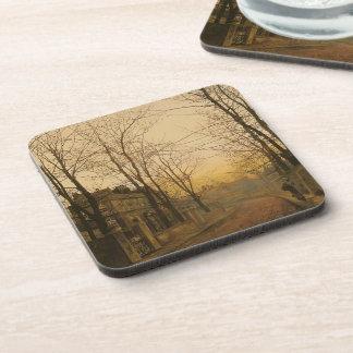 John Atkinson Grimshaw- An Autumn Idyll Drink Coasters