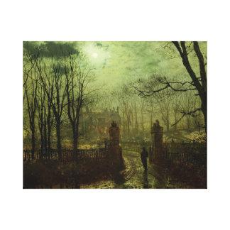 John Atkinson Grimshaw -  At The Park Gate Canvas Print