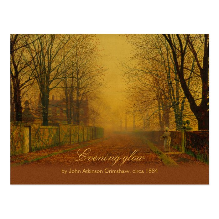 John Atkinson Grimshaw Evening glow CC0869 Postcard