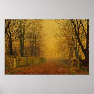John Atkinson Grimshaw Evening glow CC0871 Poster