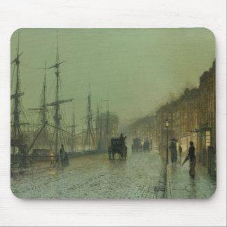 John Atkinson Grimshaw - Glasgow Docks Mouse Pad