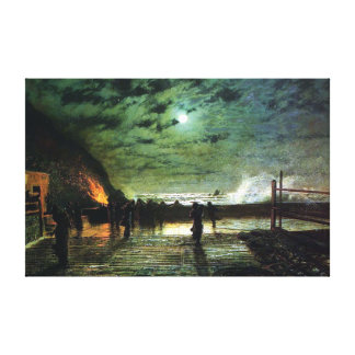 John Atkinson Grimshaw In Peril Canvas Print