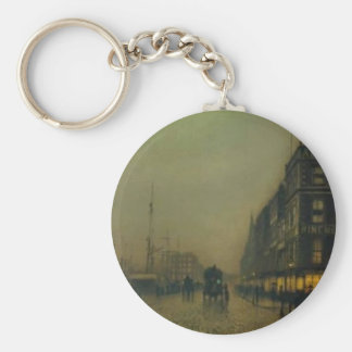 John Atkinson Grimshaw-Liverpool Quay by Moonlight Key Chains