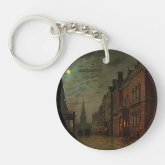 John Atkinson Grimshaw- Park Row, Leeds Keychains