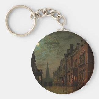 John Atkinson Grimshaw- Park Row, Leeds Key Chain