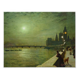 John Atkinson Grimshaw - Reflections on the Thames Poster