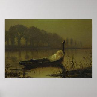 John Atkinson Grimshaw - The Lady of Shalott Poster