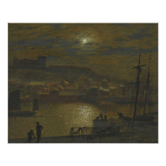John Atkinson Grimshaw - Whitby from Scotch Head Poster