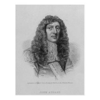 John Aubrey, engraved by Charles Eden Wagstaff Postcard