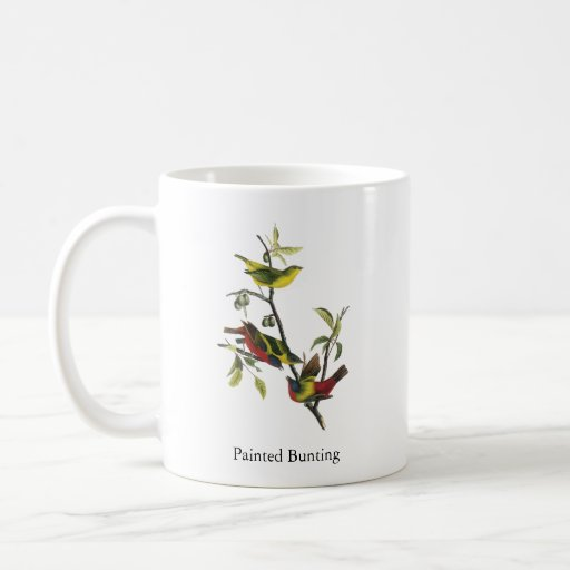 John Audubon Painted Bunting Print Classic White Coffee Mug