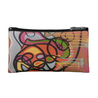 john bambino original painting print cosmetics bags