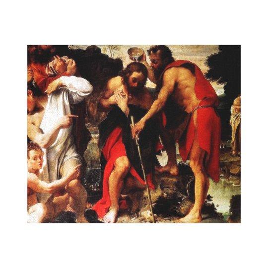 John Baptizes Jesus Canvas Print