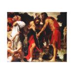 John Baptizes Jesus Gallery Wrapped Canvas