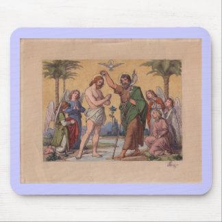 JOHN BAPTIZING JESUS MOUSE MAT