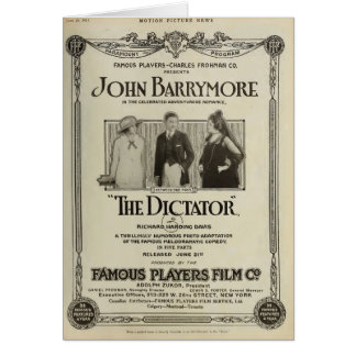 John Barrymore 1915 silent movie exhibitor ad Greeting Cards