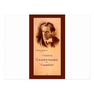 John Barrymore In Hamlet Broadway 1922 Postcard