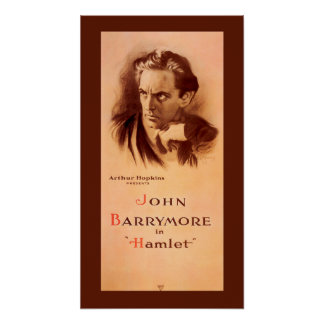 John Barrymore in Hamlet Broadway 1922 Poster