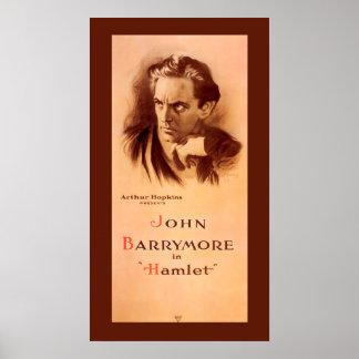 John Barrymore in Hamlet Broadway 1922 Poster