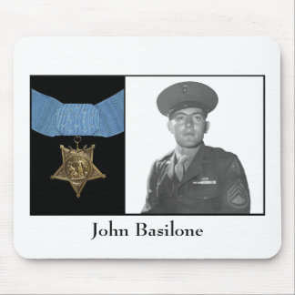 John Basilone and The Medal of Honor Mousepads