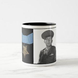 John Basilone and The Medal of Honor Two-Tone Coffee Mug