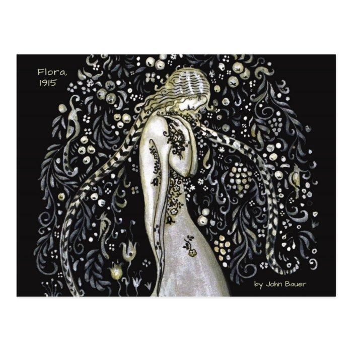John Bauer Flora 1915 Art Nouveau style CC1147 Postcard