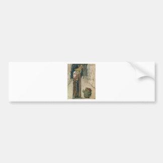 John Bauer - Princess and Troll Bumper Sticker