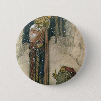 John Bauer - Princess and Troll Pinback Button