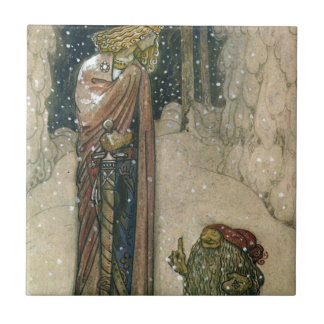 John Bauer - Princess and Troll Tile