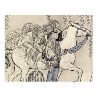 John Bauer - The Horse He Led at the Bit Postcard