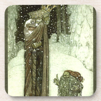 John Bauer The Princess and the Troll Beverage Coaster