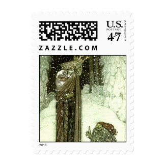 John Bauer The Princess and the Troll Postage Stamp