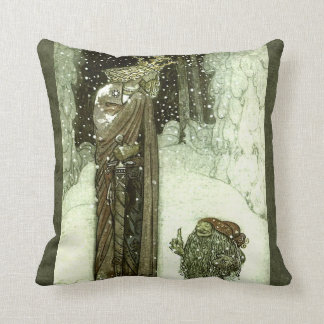 John Bauer The Princess and the Troll Throw Pillow