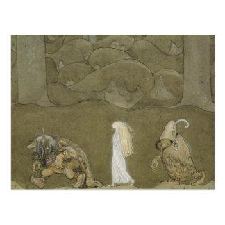 John Bauer - The Princess and the Trolls Postcard