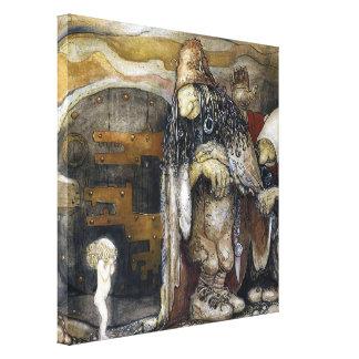John Bauer Troll Stretched Canvas Print
